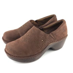 Ariat Brown Suede Clogs Embellished